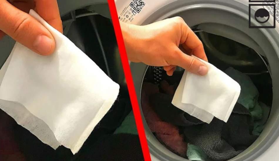 Çamaşır makinesine ıslak mendil koymanın faydaları nelerdir? Kıyafetlere yapışan tüyler için...