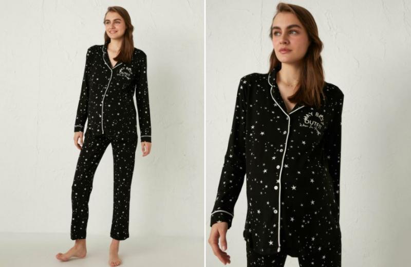 Yıldızlı pijama takım modelleri lc wakiki