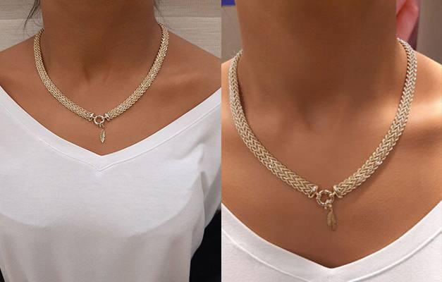 Altın burgu zincir kolye yıldız uçlu kolye modelleri