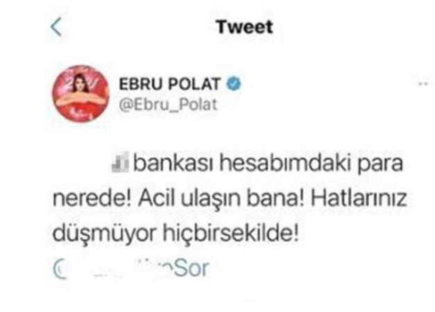 Ebru polat banka hesabı