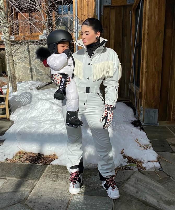 Kylie Jenner'ın kış stili