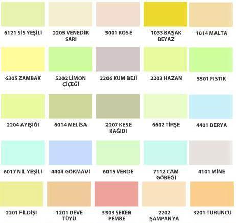 pastel renkler neler