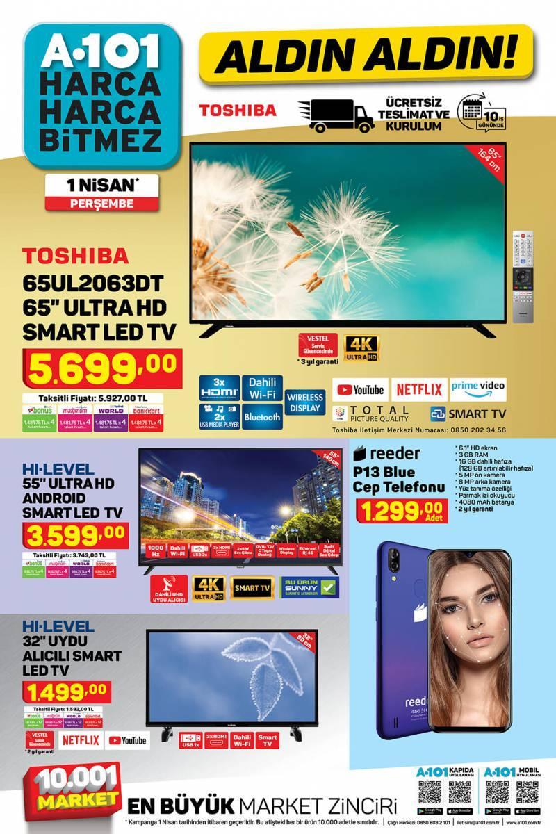 a 101 markette yer alacak televizyon