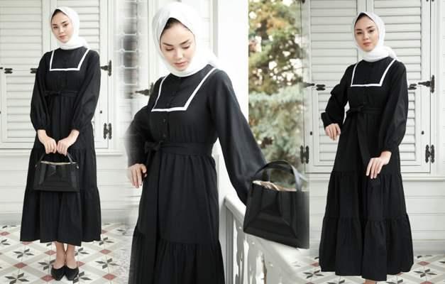 siyah elbise ve şal kombin önerileri