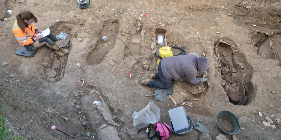 Arkeologlar 300-600 yıllarına ait 40 tabut keşfetti