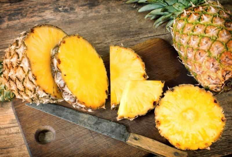 ananas sıvı oranı yüksek besindir