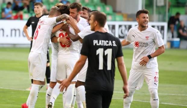 Sivasspor, Moldova'da avantajı kaptı!