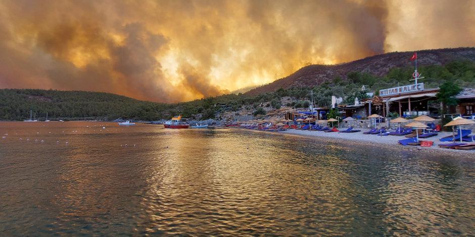 Yangından en çok etkilenen Çökertme Koyu normale dönüyor
