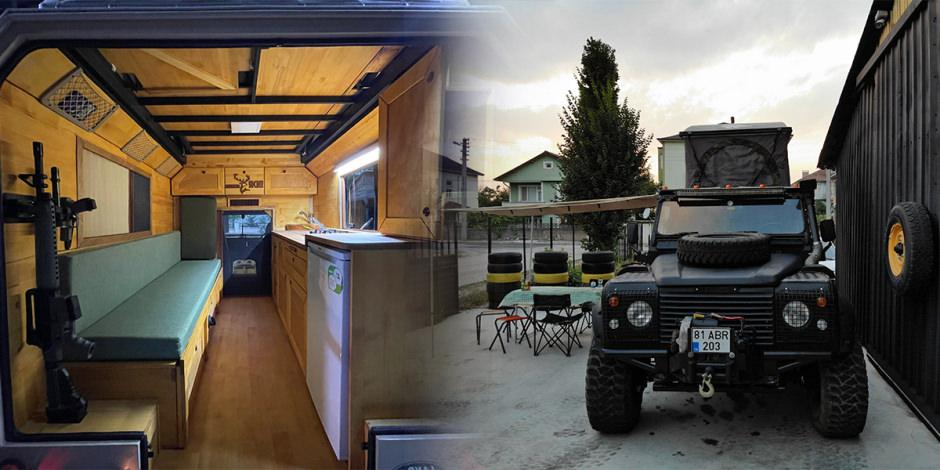Farklı bir karavan deneyimi: Arazi araçlarını karavana dönüştürdüler