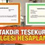 Takdir Teşekkür belgesi hesaplama   5.6.7.8.9.10.11 ve 12. sınıf dönem yıl sonu ortalama nasıl hesaplanır?