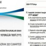 YKS soru ve cevapları 2021!  TYT, AYT ve YDT cevap anahtarı ÖSYM tarafından açıklandı mı?