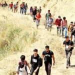 Günde 1000 kişilik gruplar halinde Türkiye'ye girmeye başladılar