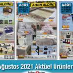 A101 19 Ağustos Aktüel Kataloğu! Elektronik, halı-perde, züccaciye, mobilya, kamp ürünleri listesi..