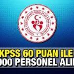 Bakanlık KPSS 60 puan ile 1000 sözleşmeli personel alımı yapacak! Başvuru şartları neler?