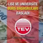 TEV lise ve üniversite burs başvuruları başladı! 2021 Türk Eğitim Vakfı aylık 800 TL'ye kadar burs verilecek!