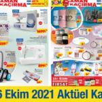 ŞOK 16 Ekim Aktüel Kataloğu! Dikiş makinesi, elektrikli süpürge, tekstil ve çeyizlik ürünlerde..