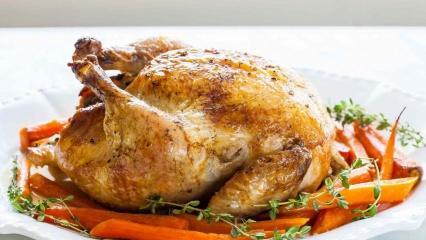 Bütün tavuk nasıl pişirilir, püf noktaları nelerdir? Enfes fırında bütün tavuk tarifi
