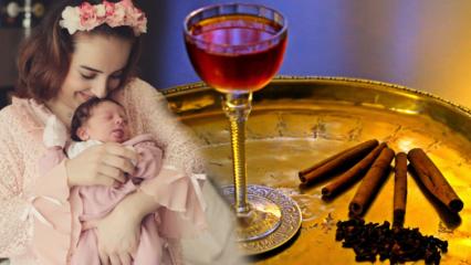 Doğum için evde pratik şerbet tarifi! Lohusa şerbeti ne zaman, nasıl yapılır?