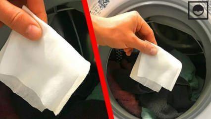 Çamaşır makinesine ıslak mendil koymanın faydaları nelerdir?