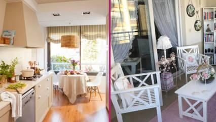 Balkonu salona katmak avantajlı mıdır? Balkonla birleşmiş mutfak dekorasyon fikirleri