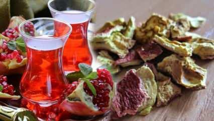 Nar kabuğu çayı nasıl yapılır? Nar kabuğu çayının faydaları nelerdir?