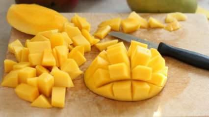 Mango nasıl doğranır? Mango en kolay nasıl dilimlenir? Evde en kolay mango doğrama tekniği