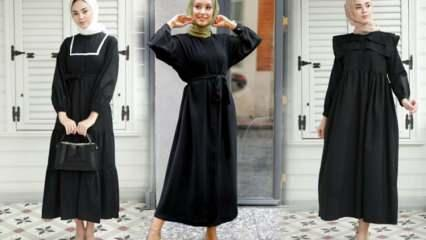 Siyah elbise hangi renk şal uyumlu olur?  Siyah elbiseye yakışacak şal modelleri
