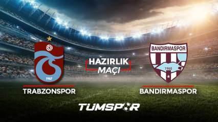 Trabzonspor Bandırmaspor maçı ne zaman saat kaçta hangi kanalda? TS Bandırma maçı 11'leri!
