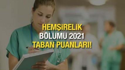 Hemşirelik taban puanları! 2021 Hemşirelik bölümü ÖSYM başarı sıralaması ve kontenjanları!