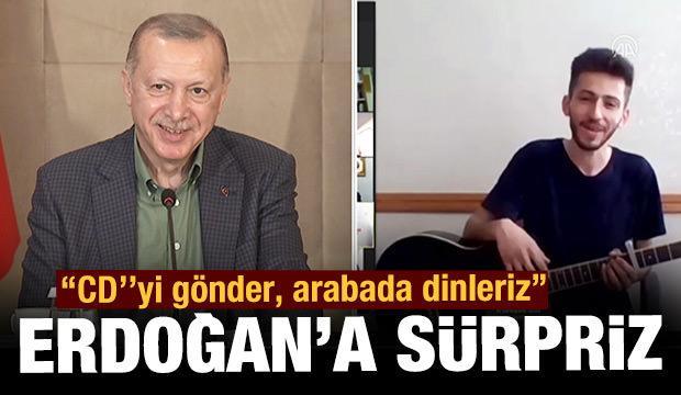 Cumhurbaşkanı Erdoğan'a babalar günü sürprizi!