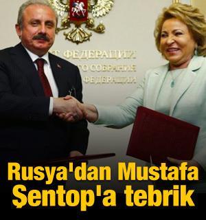 Rusya'dan Mustafa Şentop'a tebrik