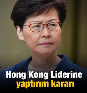 ABD'den Hong Kong Lideri Carrie Lam'a yaptırım kararı