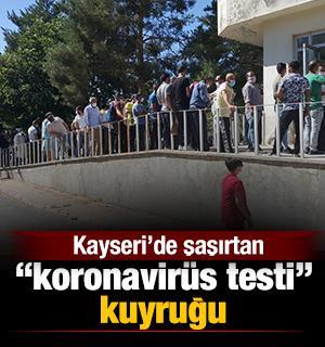 Kayseri'de şaşırtan 'koronavirüs testi' kuyruğu
