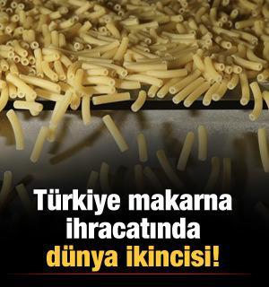 Türkiye makarna ihracatında dünya ikincisi!