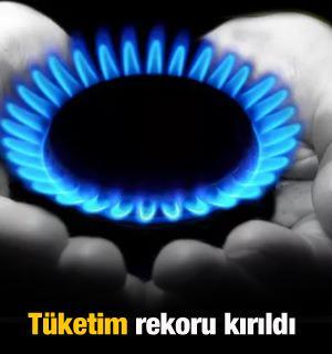 Doğal gaz tüketiminde rekor