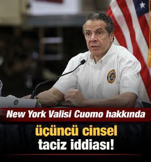 New York Valisi Andrew Cuomo hakkında üçüncü cinsel taciz iddiası
