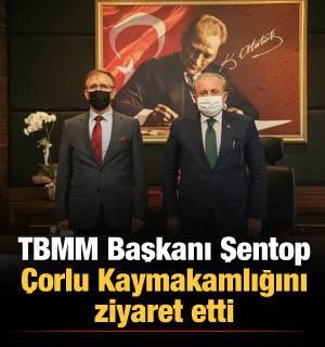 TBMM Başkanı Şentop Çorlu Kaymakamlığını ziyaret etti