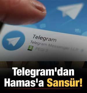 Telegram'dan Hamas'a sansür!