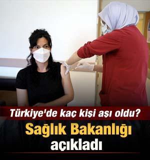 Türkiye'de kaç kişi aşı oldu? Sağlık Bakanlığı açıkladı