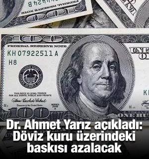 Dr. Ahmet Yarız açıkladı: Döviz kuru üzerindeki baskısı azalacak
