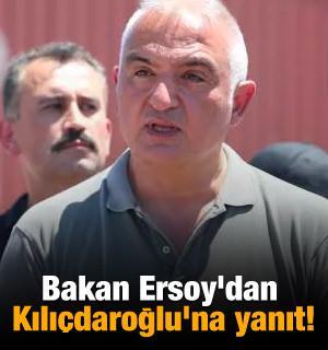 Bakan Ersoy'dan Kılıçdaroğlu'na yanıt!