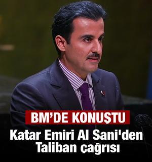 Katar Emiri Al Sani'den Taliban çağrısı