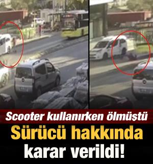 Ümraniye'de scooter kullanan genç kadının ölümüne neden olan sürücü tutuklandı